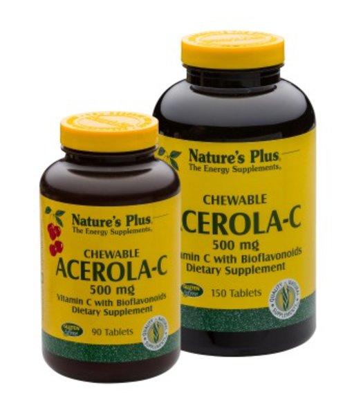 Nature\'s Plus Acerola-C 500 mg Vitamin C Lutschtabletten