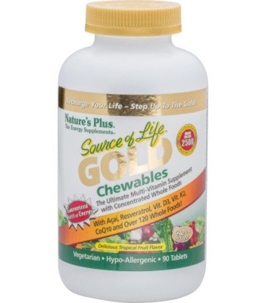 Nature`s Plus Source of Life Gold Chewables 90 Lutschtabletten