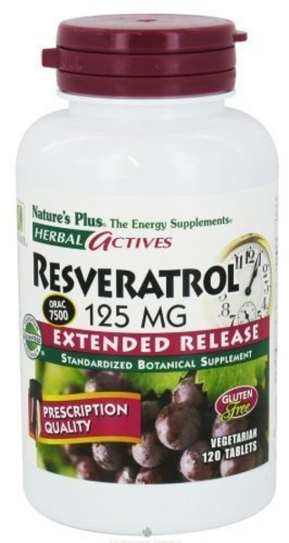 Nature\'s Plus - Herbal Actives Resveratrol 125mg