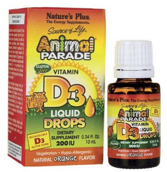 Natures Plus Animal Parade Vitamin D3 200 IE Tropfen 10ml